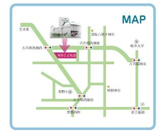 黒野こども園の地図